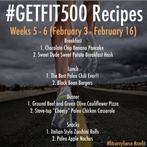 #GETFIT500 Recipes Weeks 5-6